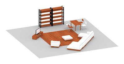 Vectorworksで作った家具達