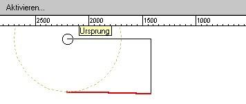 VectorWorks - Streckenermittlung in Abhängigkeit von anderer Strecke