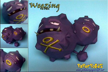 Pokemon Weezing Paper Model