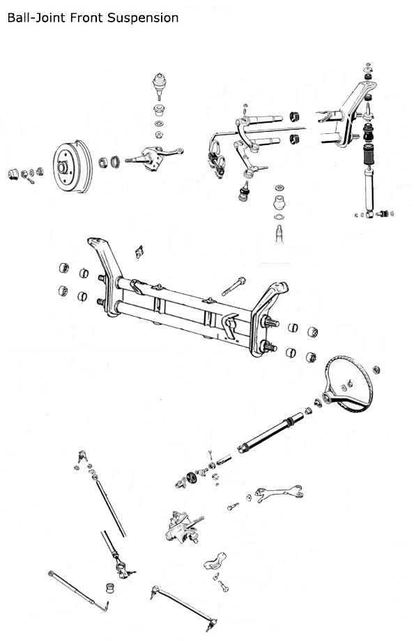 Vw Beetle Volkswagen Beetle Balljoint Front Suspension Diagram