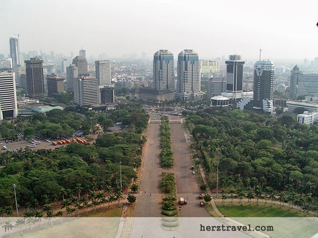 View of Jakarta from the National Monument (449 ft. tall), Jakarta