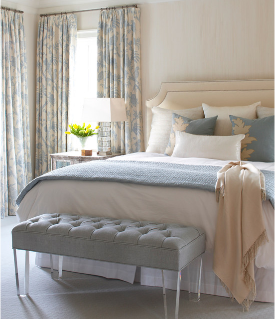 Gray & Cream Master Bedroom E-Design