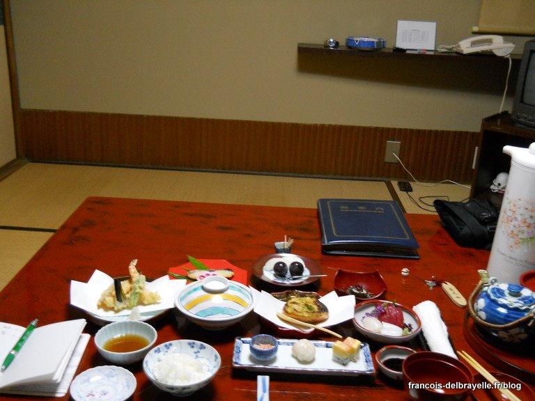 Dîner au ryokan Aobachaya de Nara