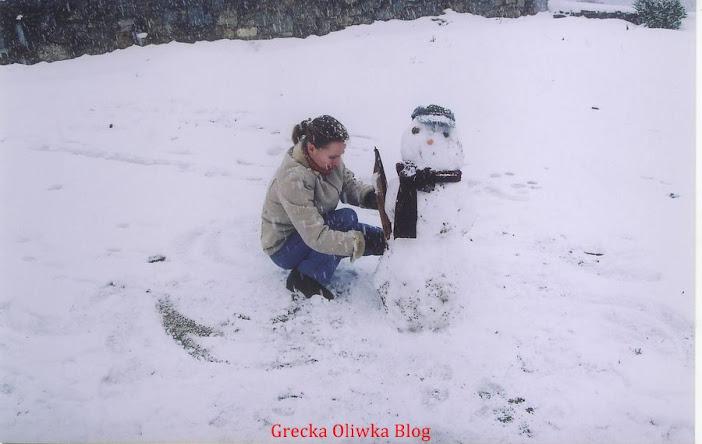 śniegowy bałwan, Zima Mykonos