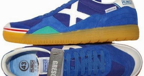 best sport shoes for flat feet  MUNICH - Gresca 605 - Indoor Soccer    Futsal Shoe - Blue White - 8.5 80376acd33