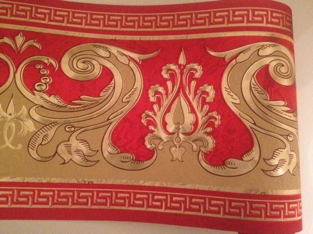 wundersch ne bord re barock rot beige gold versace 5m. Black Bedroom Furniture Sets. Home Design Ideas