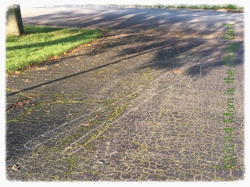 Http://momistheonlygirl.com Sun experiment chalk tracing
