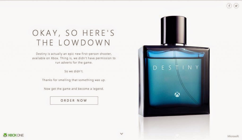 Destiny: The new fragrance by Xbox?