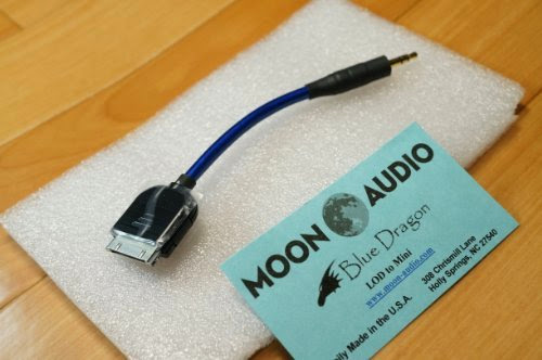 Moon Audio Blue Dragon v3 APPLE DOCK CABLE replacement upgrade cable Ipad Iphone Ipod, Touch (not for lightning connector)