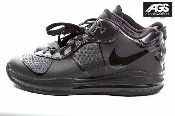Upcoming Nike LeBron 8 V2 Low 8211 Triple Black 8211 Detailed Images
