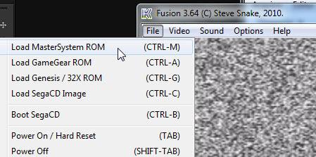 Carregando a Rom para Master System no Kega Fusion
