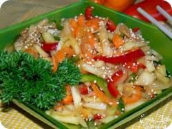 Рецепт салата кабачки по корейски