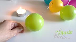 Corona de bolas hecha a mano