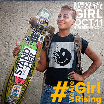 October 11th is International day of the Girl! Get in the action tonight at the Twitter 9pm #Wearegirlrising...
