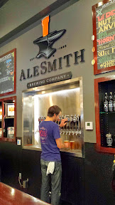 AleSmith Brewing Company, many taps of beers to try
