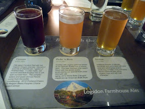 Raven and Rose: Beer with the Bird, Logsdon Farmhouse Ales beer flight