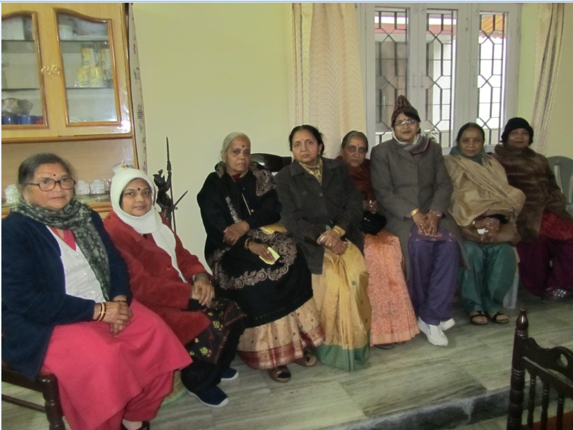 From L to R : Smt Madhur, Smt Mridula Asthana (my sister), Smt G N Kulshrestha, Smt Mahesh Bahadur, Smt N N Kulshrestha, Dr Rashmi Kulshrestha, Smt Ramakant, Smt Anil Kumar
