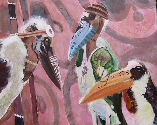 Oefening in kleuren, klas 2 Kunstacademie, Rita Koolstra