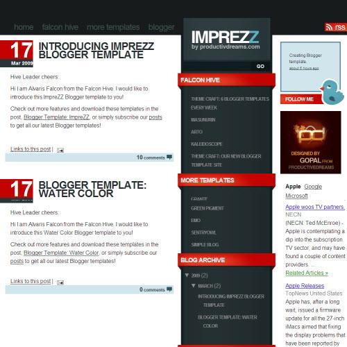 ImpreZZ,blogger,Templates for blogger