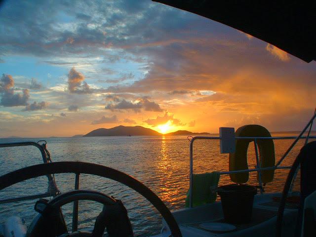 Sunset in the British Virgin Islands.