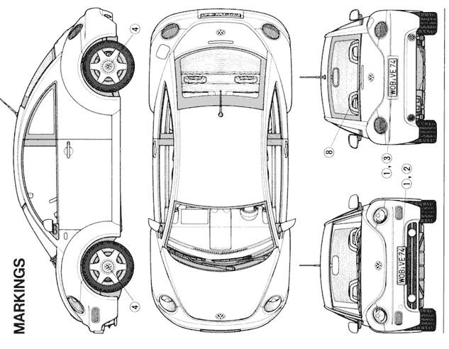 Car Blueprint on Toyota Supra