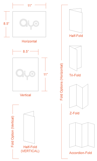 AIYOPRINT - Dimensions and Print Specs for Brochure / Flyer