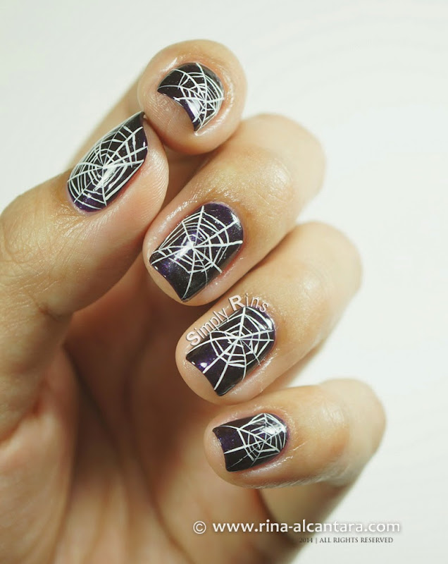 Cobwebs (Freehand) Nail Art Design with Tutorial by Simply Rins