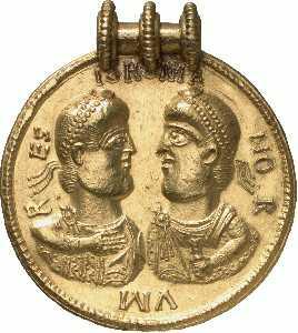 El más grande Medallón romano de oro