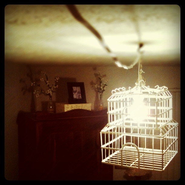 Tunes and spoons diy vintage birdcage chandelier diy vintage birdcage chandelier aloadofball Image collections