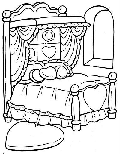 Bed Free Coloring Pages