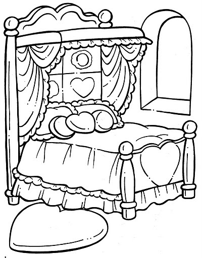 coloring pages of beds - photo#22