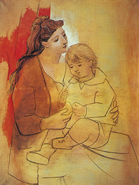 Maternitat amb cortina vermella - Picasso