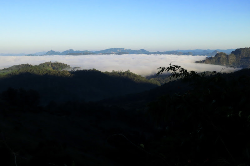 First view of the mists from above