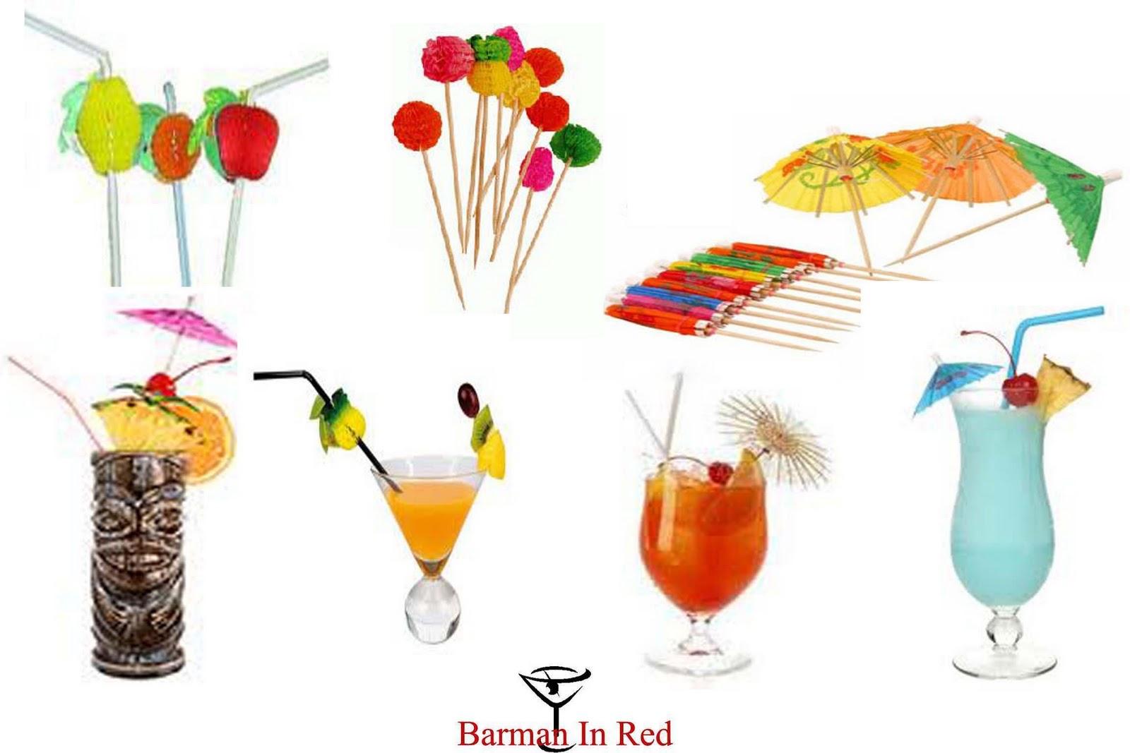 Decoraci n de cocktails con farolillos paraguas for Adornos para cocteles