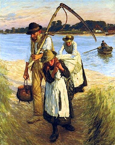 Henry Herbert La Thangue - Travelling Harvesters