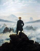 El vagabundo sobre el mar de niebla, por C. D. Friedrich