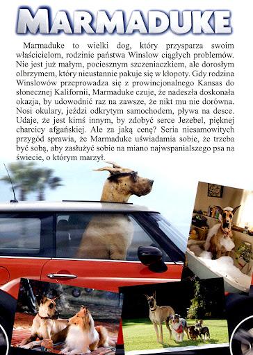 Tył ulotki filmu 'Marmaduke - Pies Na Fali'