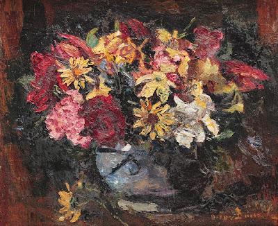Octav Băncilă - Cană cu flori de câmp