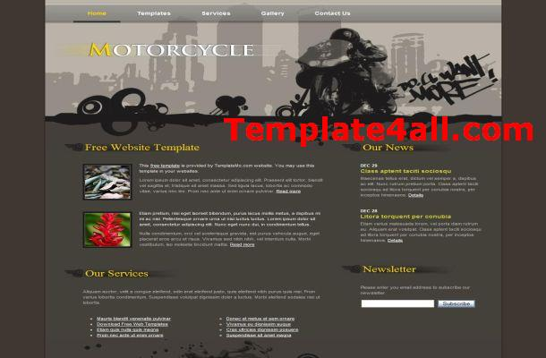 Retro Motorcycle CSS Template
