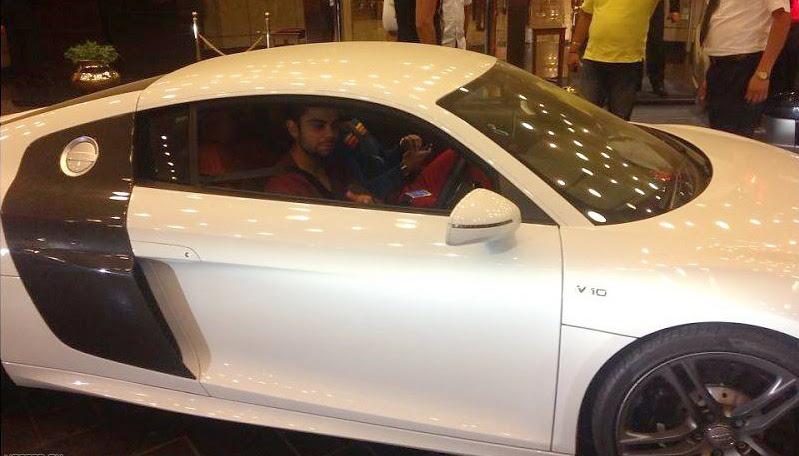 Virat Kohli Net Worth 2013     Salary Endorsement Deal MoneyVirat Kohli With His Audi R8