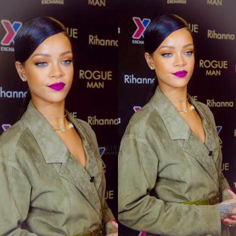 Rihanna promotes ROGUE Man in Jason Wu