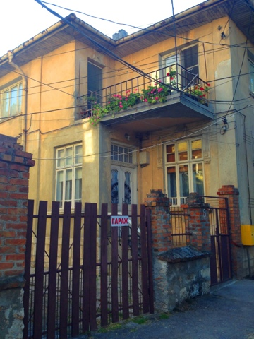 A typical Bulgarian house in downtown Dobrich, Bulgaria.
