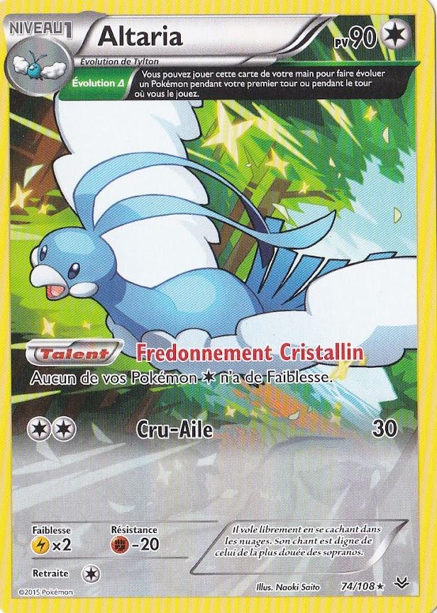 Carte Pokemon Neuve Française Pierre Reverse XY6:Ciel Rugissant 90//108