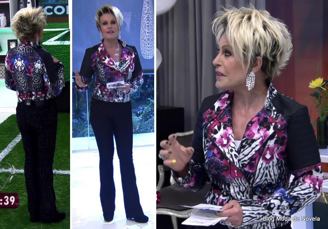 moda do programa Mais Você - look da Ana Maria Braga dia 2 de junho