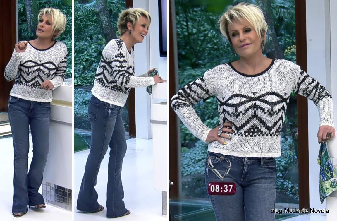 moda do programa Mais Você - look da Ana Maria Braga dia 30 de maio
