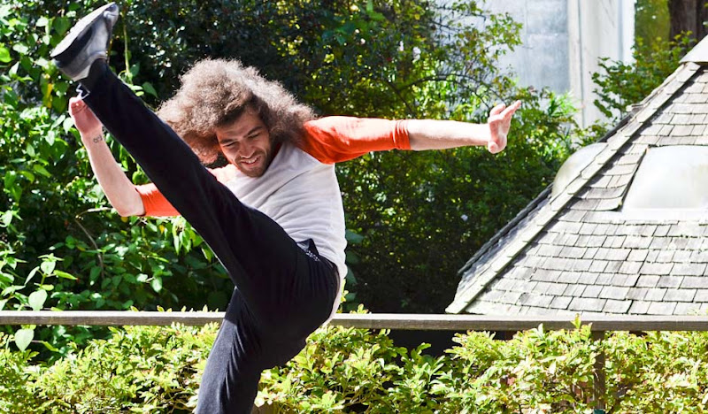 Black Cordarounds Karate Kick