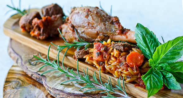 Italian Braised Lamb Shanks with Orzo Recipe