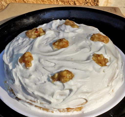 Praline Vanilla Gateau Recipe | Praline Whipped Cream Cake | Easy Vanilla cake recipe | How to make Praline step by step | Written by Kavitha Ramaswamy of Foodomania.com