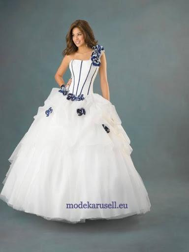 10c38708c7 Luxus Estélyiruha Menyasszonyi Ruha 2012 2013 fehér kék - Alkalmi ...