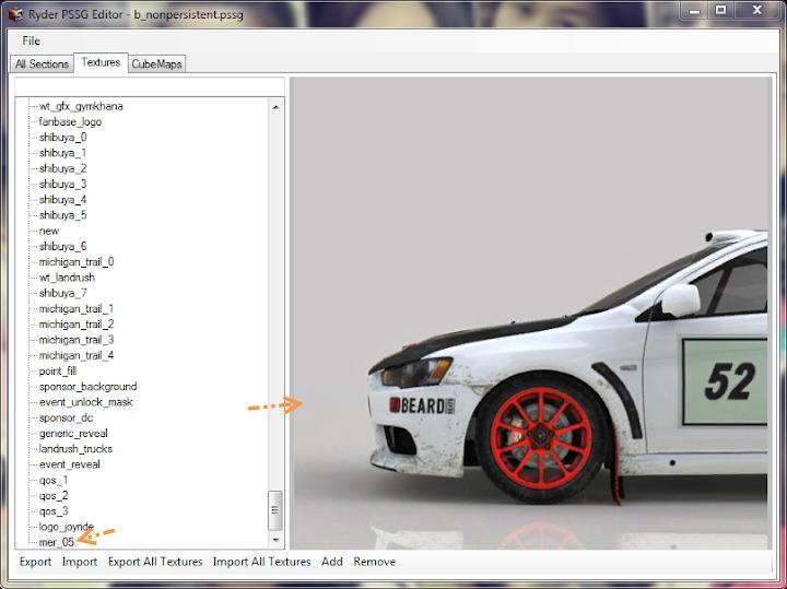การเพิ่มลายรถใหม่ลงไปใน DiRT 3 และการทำภาพ Tiles ของรถ Newcar54